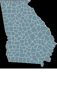 Map Georgia state