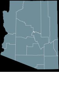 Map Arizona state