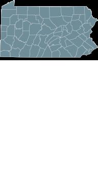 Map Pennsylvania state