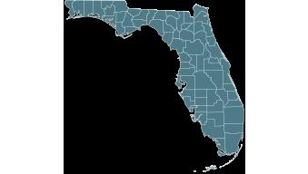 Map Florida state