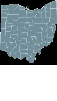 Map Ohio state